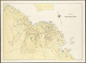Map of Bar Harbor, Maine