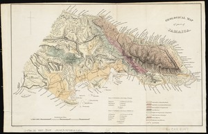 Geological map of part of Jamaica