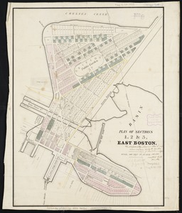 Plan of sections of 1, 2 & 3, East Boston