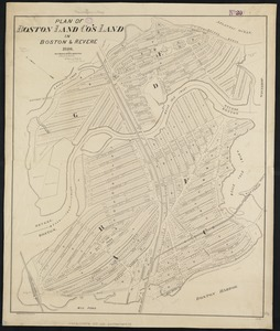 Plan of Boston Land Co's land in Boston & Revere