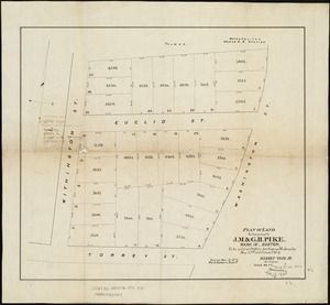 Plan of land belonging to J.M. & G.H. Pike