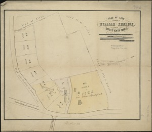 Plan of land belonging to William Kenrick