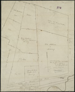 Plan of Stephen W. and Francis Jackson's farm in Newton, 6 1/2 miles from Boston