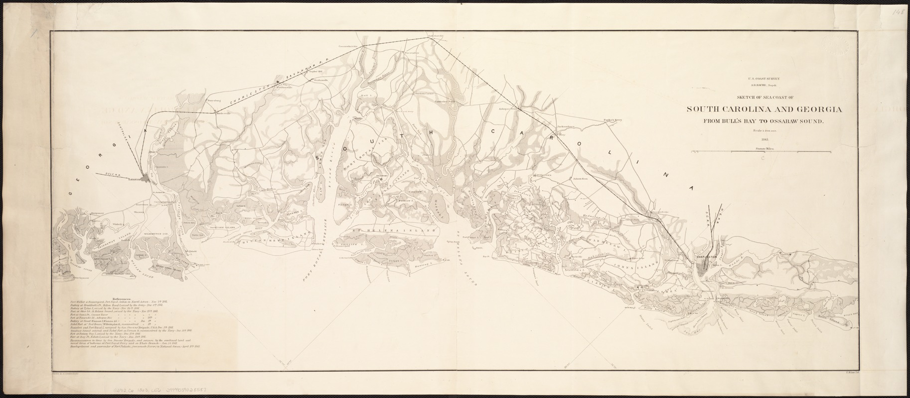 Sketch of sea coast of South Carolina and Georgia from Bull's Bay to Ossabaw Sound
