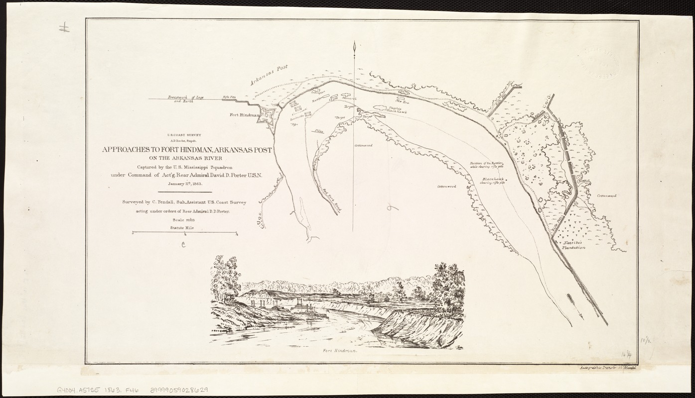 Approaches to Fort Hindman, Arkansas Post, on the Arkansas River
