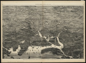 Birds-eye view of Boston and vicinity