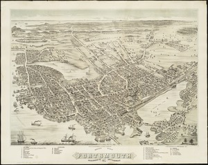 Bird's eye view of Portsmouth, Rockingham Co., New Hampshire