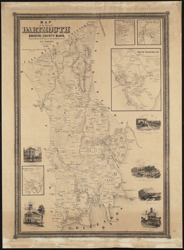 Map of the town of Dartmouth, Bristol County Mass