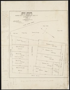 Real estate on Milk & Oliver Sts. belonging to the Boston Mang. Co. & Merrimack Mang. Co. to be sold on Friday, March 15th 1844 12 o'clock m. by Whitwell Seaver & Co