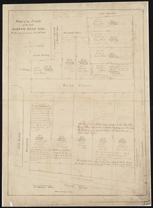 Plan of the estate of the late Joseph Head Esq. to be sold at auction, Oct. 8th 1841