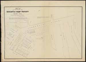 Plan of Mercantile Wharf property in Boston Mass