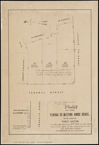 Plan of the Federal St. Meeting House estate
