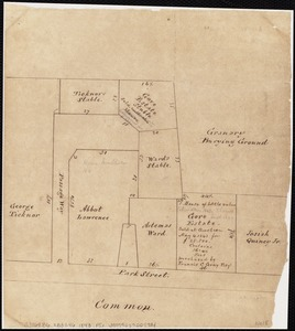 [Plan of residences on Park Street in Boston]