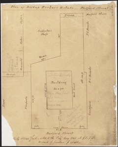 Plan of Bishop Parker's estate Bedford Street