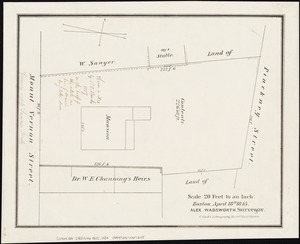 [Plan of lots between Mount Vernon and Pinckney Streets in Boston]