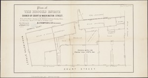 Plan of the Brooks estate corner of Court & Washington Street