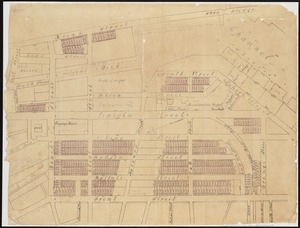 [Plan of lots in Chinatown, between Broad and Front Streets, and Beach and Orange Streets, Boston]