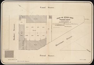 Plan of store lots near Haymarket Square
