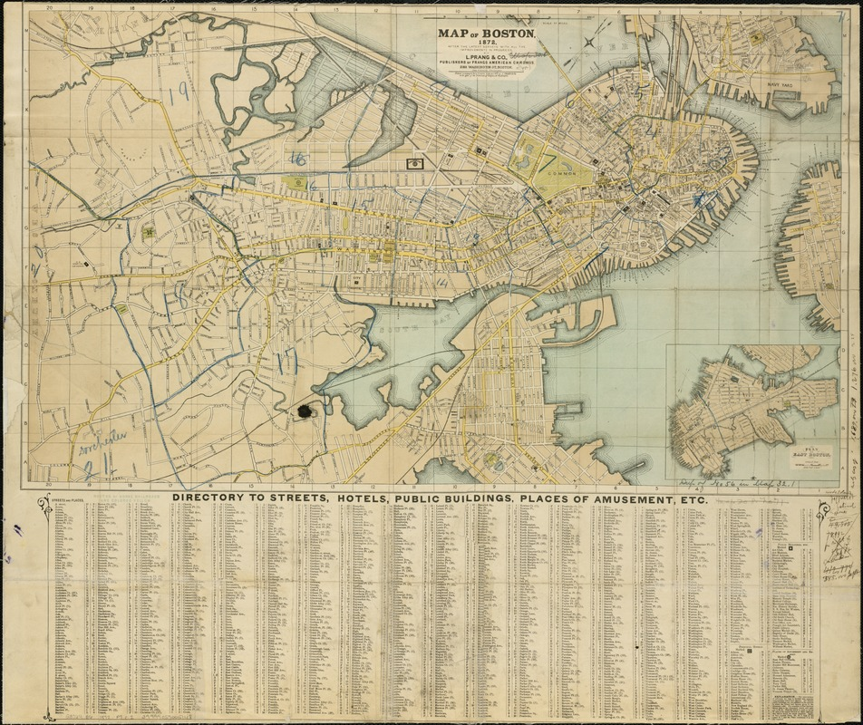 Map of Boston 1872 Digital Commonwealth