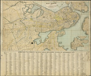 Map of Boston, 1872
