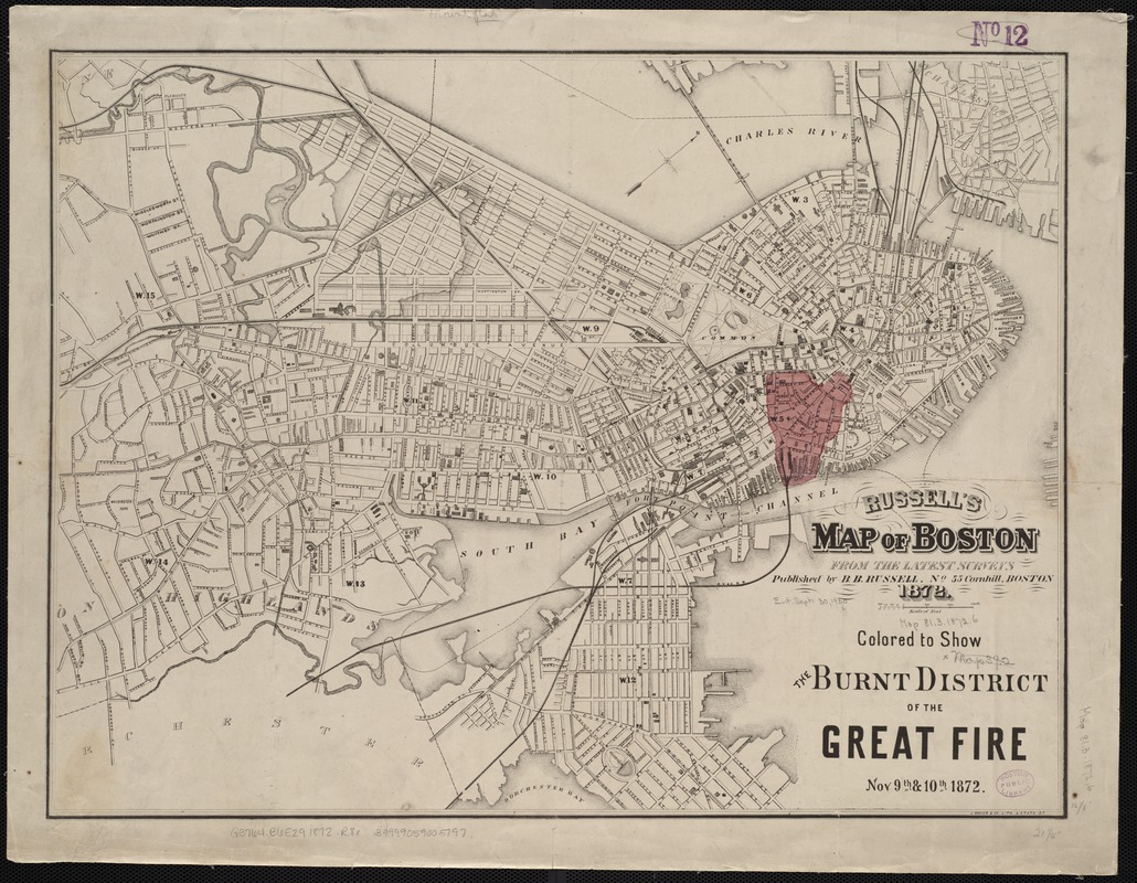Russell's map of Boston from the latest surveys