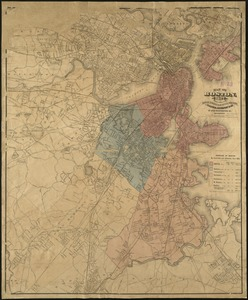 Map of Boston, for 1875