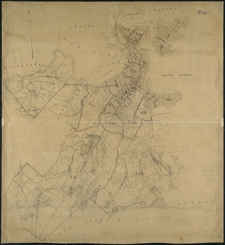 [Map of Boston, showing the new wards]