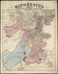Map of Boston 1876