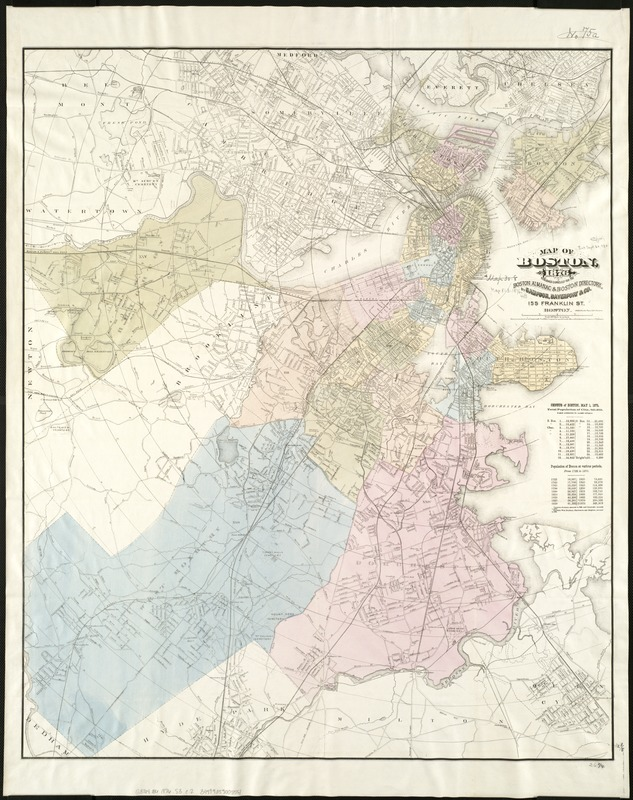 Map of Boston, for 1876