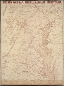 The new war map of Virginia, Maryland & Pennsylvania