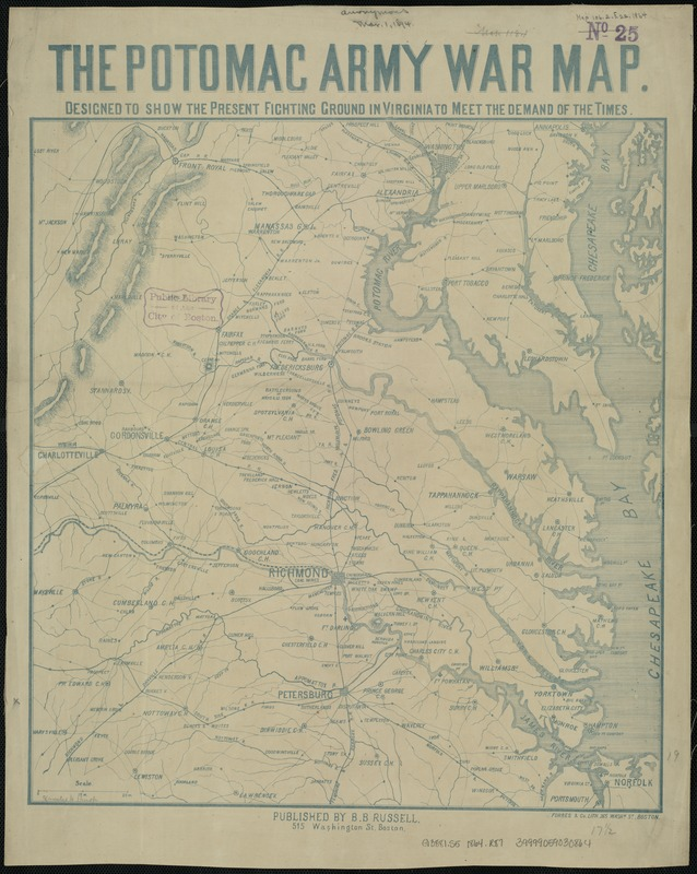 The Potomac army war map