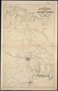Military topographical map of eastern Virginia showing the routes taken by the several army corps & the battles fought in the present campaign of 1864 under Lt. Gen. U. S. Grant
