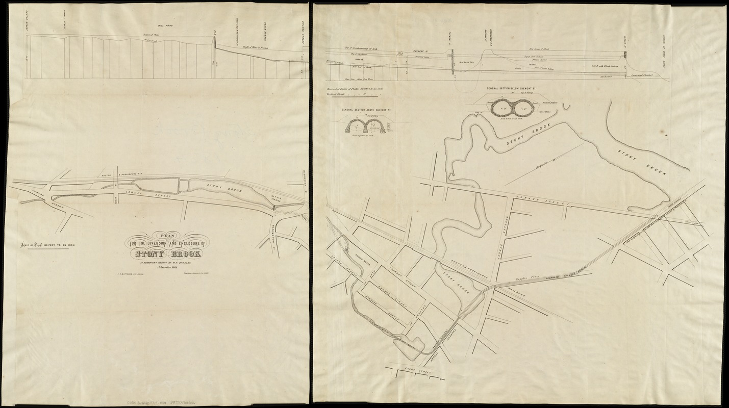Plan for the diversion and enclosure of Stony Brook