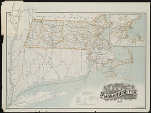 Map of the railroads of the state of Massachusetts
