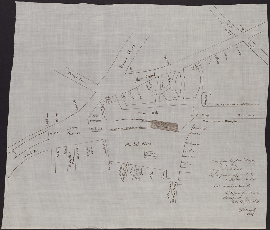 Copy of an old plan belonging to the city