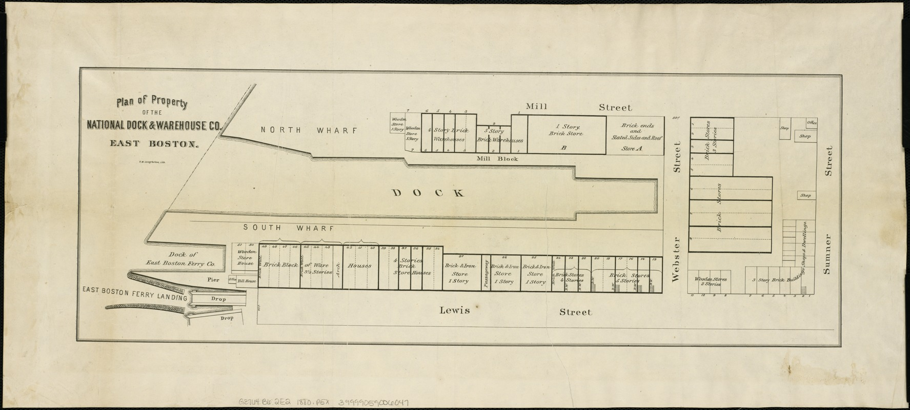 Plan of property of the National Dock & Warehouse Co. East Boston
