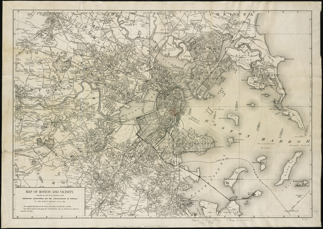 Map of Boston and vicinity