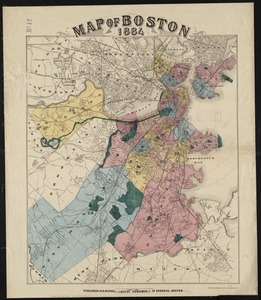 Map of Boston, 1884