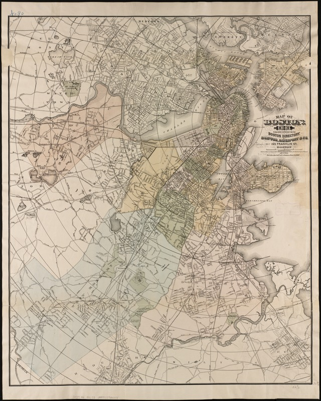 Map of Boston, for 1884