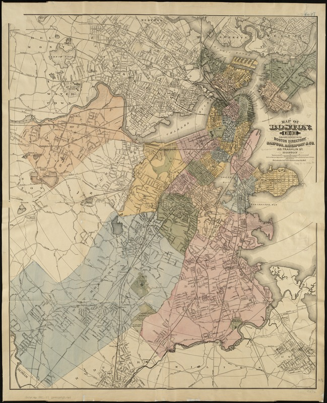Map of Boston, for 1882