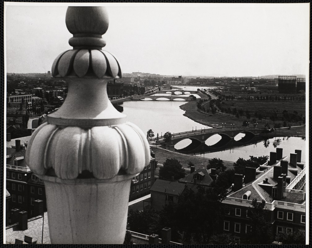 The Charles River as seen from the buildings of the Harvard