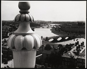 The Charles River as seen from the buildings of the Harvard Graduate School of Business Administration