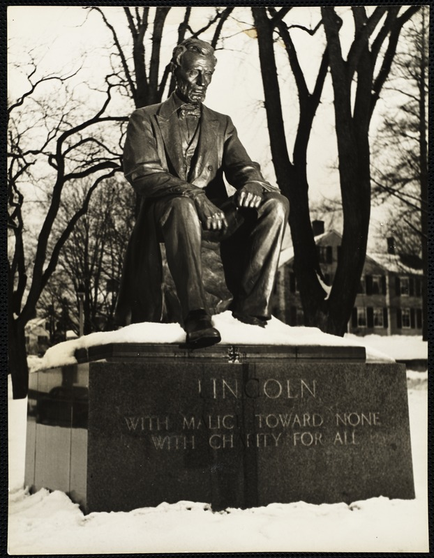 Statue of Lincoln in Hingham, Mass