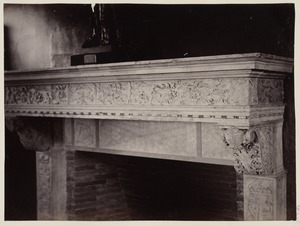 Detail of fireplace mantelpiece for Trustees Room
