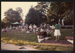 Event on Waban Branch Library lawn