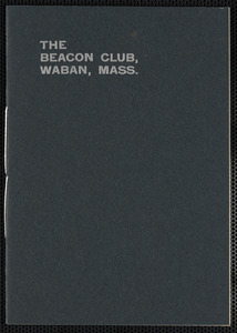 Beacon Club Constitution and By-laws, 1900-1901