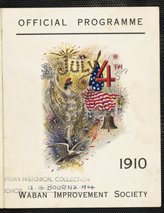 Official programme July 4th, 1910, Waban Improvement Society