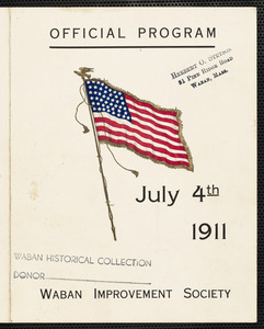Official program July 4th, 1911, Waban Improvement Society