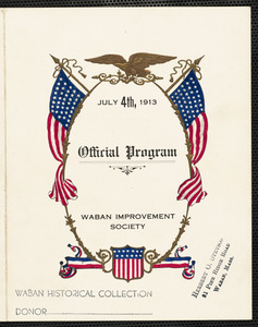 Official program July 4th, 1913, Waban Improvement Society