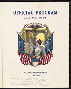 Official program July 4th, 1914, Waban Improvement Society
